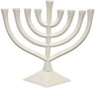 White Hanukkah Menorah