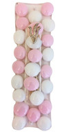 Pink and White Art Glass Mezuzah