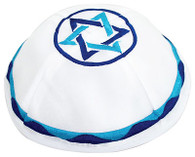 Kippah with Blue Star of David