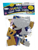 Chanukah Glitter Foam Shapes Stickers