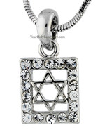 Square Star of David Necklace