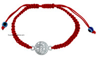 Kabbalah Bracelet with Shema Yisrael and Evil Eye Charm
