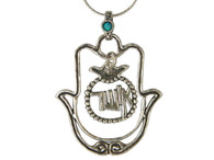 Hamsa and Pomegranate Necklace