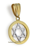 10K Two-Tone Gold Star of David Pendant