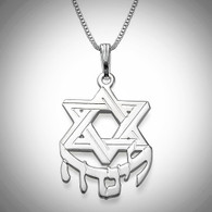 Hebrew Name Necklace with Star of David