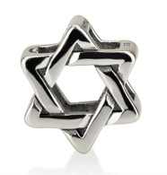 Star of David Bead Charm