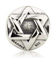 Star of David Jewish Charm Bead