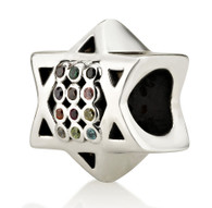 Star of David Charm Bead