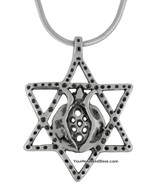 Star of David and Pomegranate Necklace
