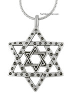 Star of Magen David Silver Necklace