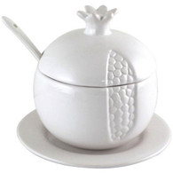 White Ceramic Honey Dish