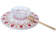 Rosh HaShanah Honey Dish & Plate