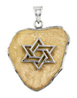 Jerusalem Stone Pendant with Star of David