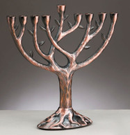 TREE OF LIFE COPPER MENORAH