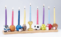 HAND PAINTED SPORTS MENORAH