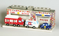 Fire Rescue and Police Menorah
