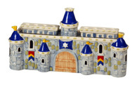 Ceramic Castle Menorah