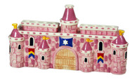 Pink Ceramic Castle Menorah