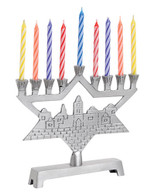Hanukkah Mini Menorah with Candles