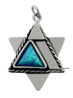 Star of David Pendant with Blessing in Hebrew