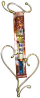 Jewish Wedding Glass Mezuzah with Hearts