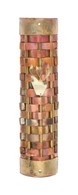 Copper and Brass Mezuzah Case