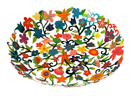Hand Painted Bowl - Flowers