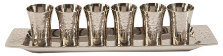 Set of 6 Nickel Kiddush Cups