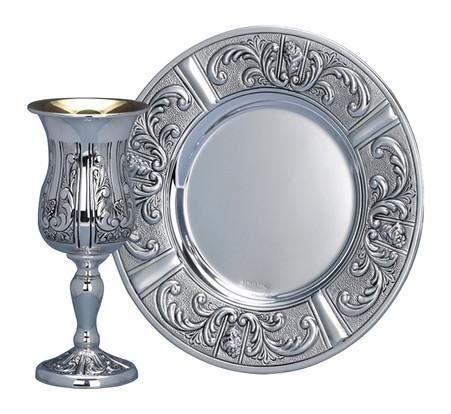 Sterling Silver Kiddush Cup Set by Hazorfim