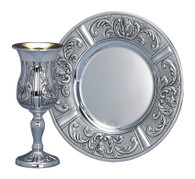 Sterling Silver Kiddush Cup Set by Hazorfim