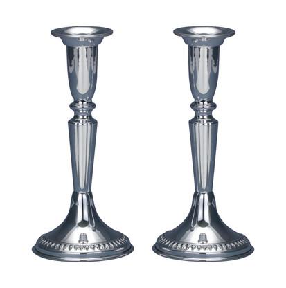 Sterling Silver Shabbat Filigree Candlesticks by Hazorfim