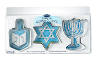 Chanukah Metal Cookie Cutters