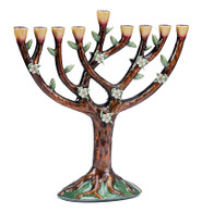 Enameled Tree of Life Menorah