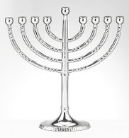 Menorah with Hammered Accents