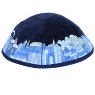 Jerusalem View Embroidered Kippah