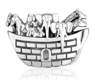 925 Sterling Silver Noah's Ark Charm
