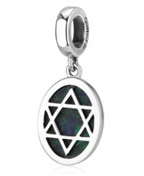 Eilat Stone & Silver Star of David Charm