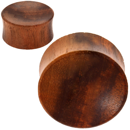 red tiger wood concave ear plugs