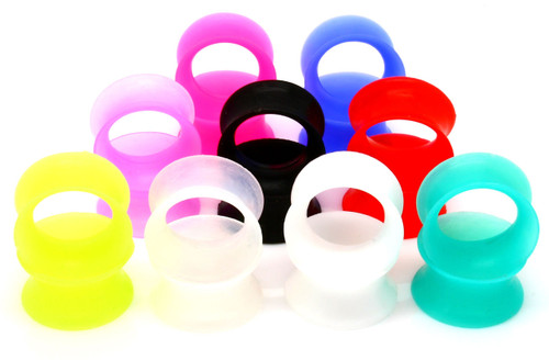 ULTRA THIN SILICONE SKINS EAR GAUGES CHOOSE COLOR
