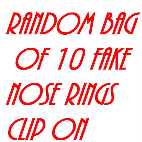 NON PIERCE SEPTUM RING RANDOM BAG OF 10