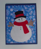 Snowman with sign I LOVE YOU