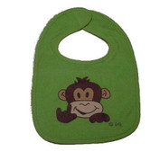 Baby Bib Monkey with Sign I LOVE YOU ( Green Bib)