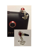Rhinestone Cell Phone Charms with Tiny Outline I LOVE YOU Hand (RED) OUT OF STOCK