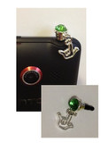 Rhinestone Cell Phone Charms with Tiny Outline I LOVE YOU Hand (LIME) OUT OF STOCK