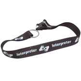 Lanyard Necklace (Interpreter Black and White Print)