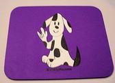 Dog (black) sign ILY Mouse Pad (Purple)
