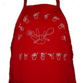Grandma's Kitchen with cooking design  Apron (Red)
