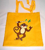 Monkey Tote Bag (Yellow)