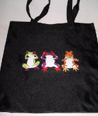 3 Frogs Sign - Black Tote