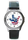 Watches Round  USA I LOVE YOU (Silver)